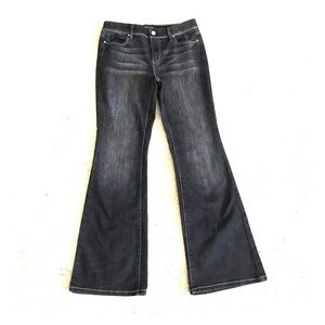 White House black market wrinkled midrise jeans